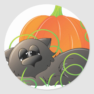 Spooky Cats 1 Round Sticker