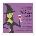 Spooky Chic Witch Party Halloween Invitation