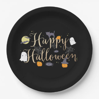 Spooky Critters Halloween 9 Inch Paper Plate