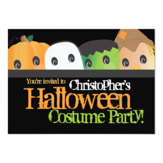 Spooky Cute Halloween Costume Party 13 Cm X 18 Cm Invitation Card