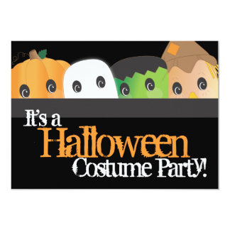 Spooky Cute Halloween Costume Party Card