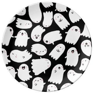Spooky cute halloween plate porcelain plates