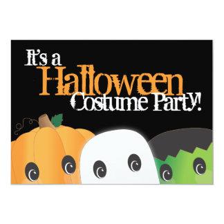 Spooky Cute Pumpkin Ghost Halloween Costume Party 13 Cm X 18 Cm Invitation Card