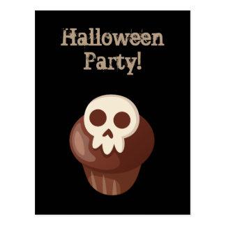 Spooky & Cute Skele-muffin Postcard