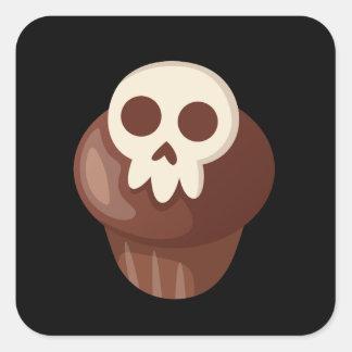 Spooky & Cute Skele-muffin Square Sticker