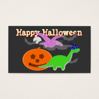 Spooky Dinosaurs Happy Halloween Cards