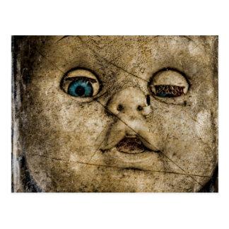 Spooky doll. postcard