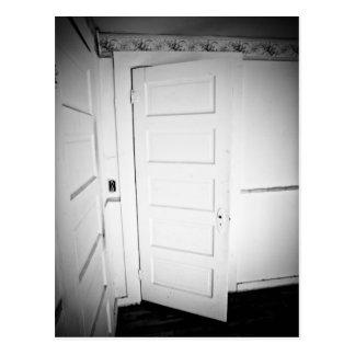 Spooky Door Postcard
