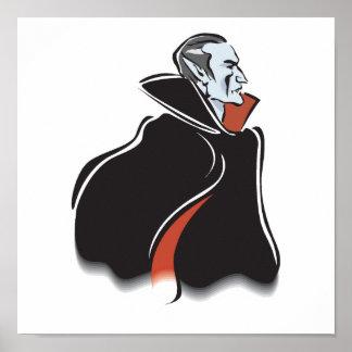spooky dracula vampire poster