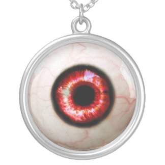 Spooky Eye - Halloween Silver Plated Necklace
