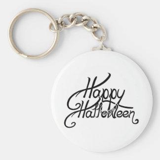 Spooky Festive Happy Halloween Basic Round Button Key Ring