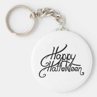 Spooky Festive Happy Halloween Basic Round Button Key Ring