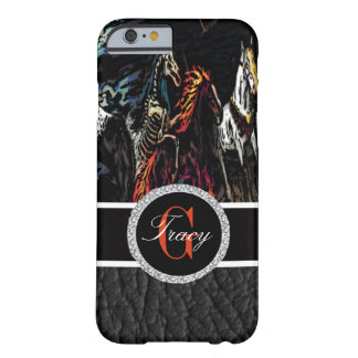 Spooky Fictional Horses with A Monogram Barely There iPhone 6 Case