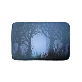 Spooky forest. bath mats