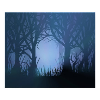 Spooky forest. poster