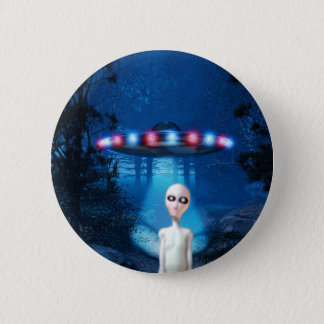 Spooky Forest UFO Close Encounter Button