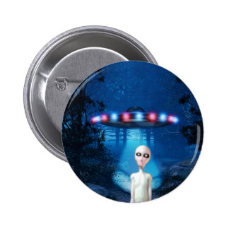 Spooky Forest UFO Close Encounter Button