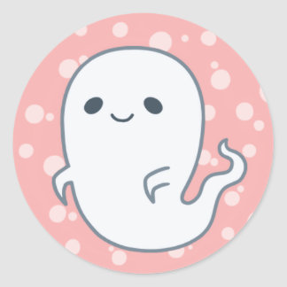 Spooky Ghost by Yokute Classic Round Sticker
