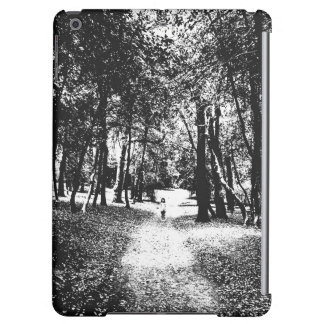 Spooky ghost girl in the woods iPad tablet case
