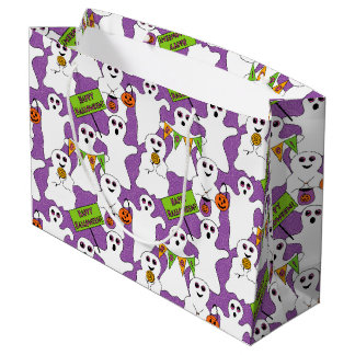 Spooky Ghost Halloween Large Gift Bag