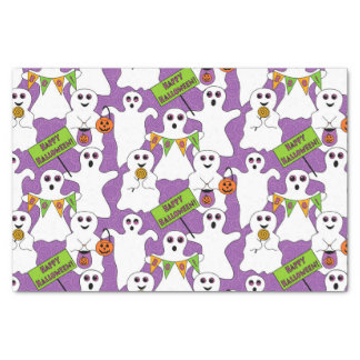 Spooky Ghost Halloween Tissue Paper