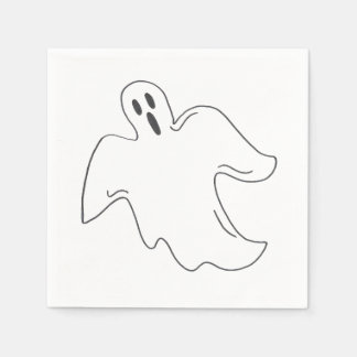 Spooky Ghost Happy Halloween Trick or Treat Design Disposable Napkin