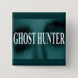 Spooky Ghost Hunter 15 Cm Square Badge