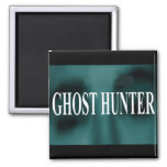 Spooky Ghost Hunter Square Magnet