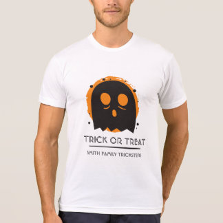 Spooky Ghost Shirt Trick or Treat. Add Family Name