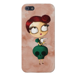 Spooky girl with Opossum iPhone 5/5S Case
