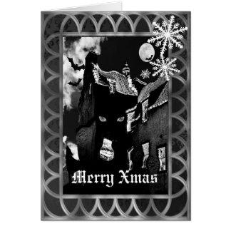 Spooky gothic black Christmas Card