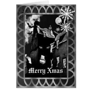 Spooky gothic black Christmas Greeting Card