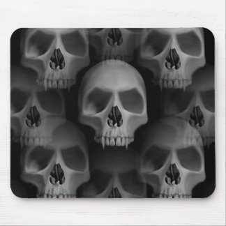Spooky gothic skull mouse mat