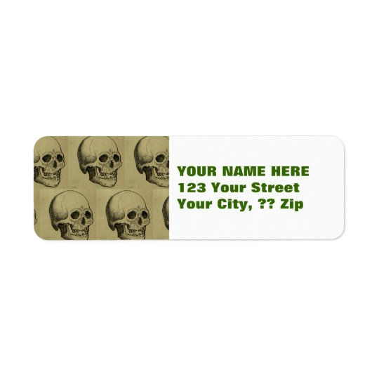 Spooky Gothic Skulls Pattern Halloween