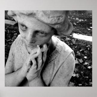 Spooky Graveyard Angel Print