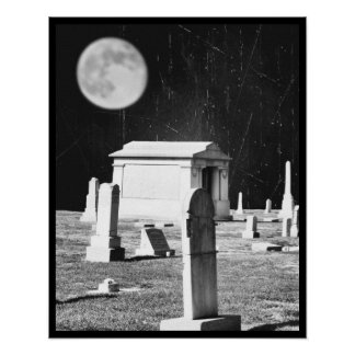 Spooky Graveyard Poster