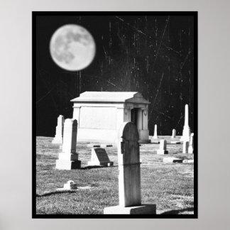 Spooky Graveyard Poster