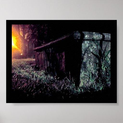 Spooky Graveyard Posters