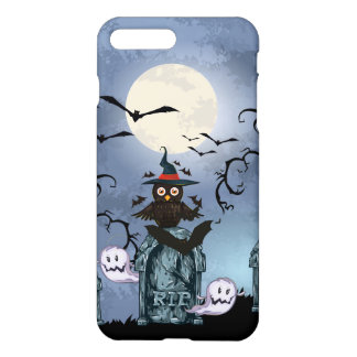 Spooky Graveyards Halloween Owl By The Fool Moon iPhone 7 Plus Case
