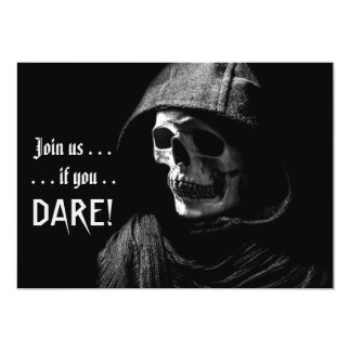 Spooky Grim Reaper Photography Halloween Party Card