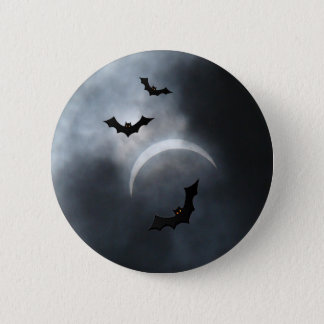 Spooky Halloween Bats In Eclipse 6 Cm Round Badge