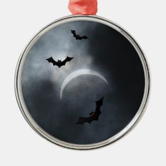 Spooky Halloween Bats In Eclipse Christmas Ornament