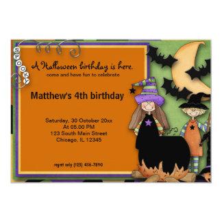 Spooky Halloween Birthday 13 Cm X 18 Cm Invitation Card