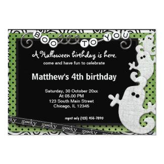 Spooky Halloween Birthday Card