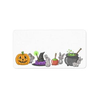 Spooky Halloween Bunnies Address Label