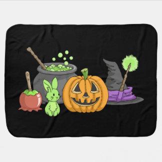 Spooky Halloween Bunnies Baby Blankets