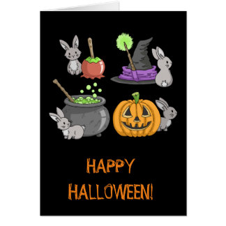 Spooky Halloween Bunnies Card
