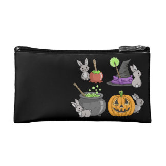 Spooky Halloween Bunnies Makeup Bag