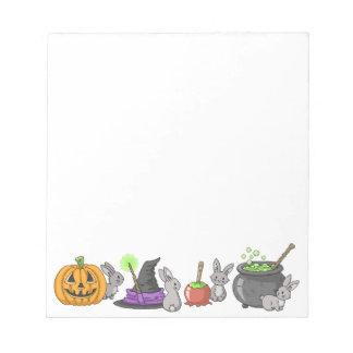 Spooky Halloween Bunnies Notepad