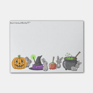 Spooky Halloween Bunnies Post-it Notes